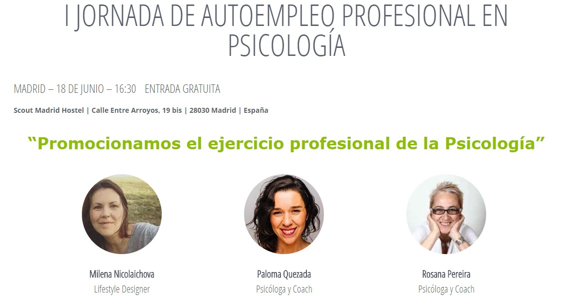 ponentes jornada autoempleo en psicologia