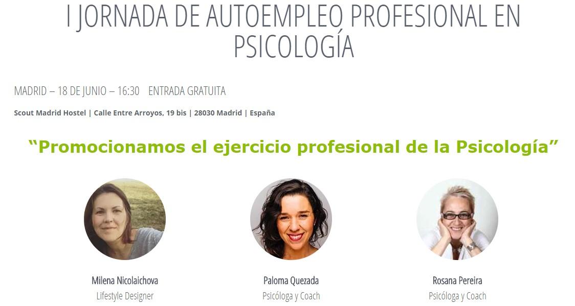ponentes jornada autoempleo en psicologia
